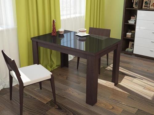 Стол обеденный Бостон раскладной со стеклом