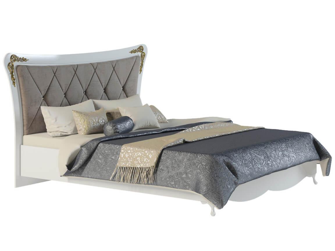 фото Кровать с мягкой спинкой Аделина