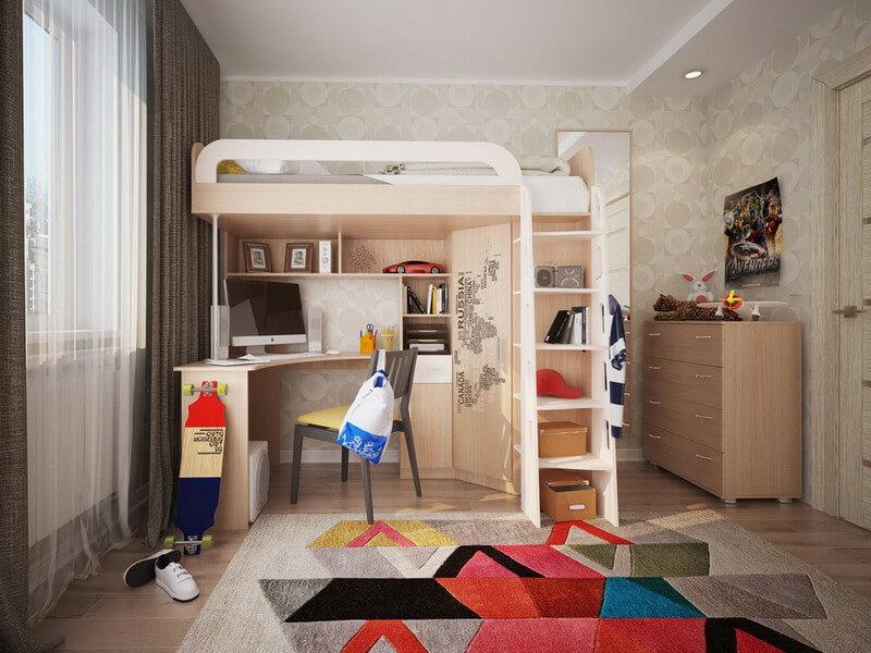 фото Детский комплекс кровать-чердак Мультиплекс