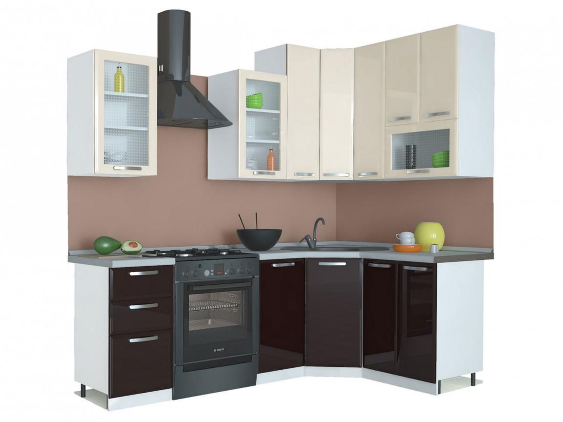 фото Угловая кухня Равенна Лофт 1650х1450 высокие шкафы