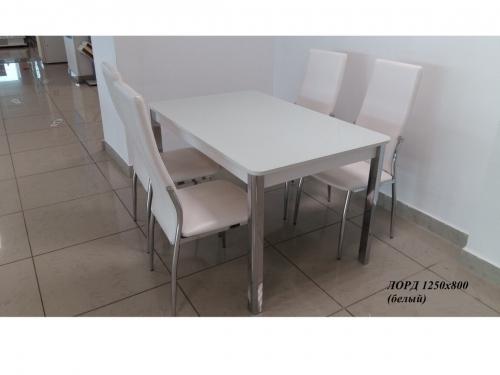 Раскладной стол со стеклом Лорд