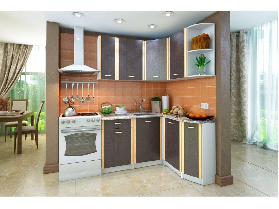 фото Кухонный угловой гарнитур Бланка венге