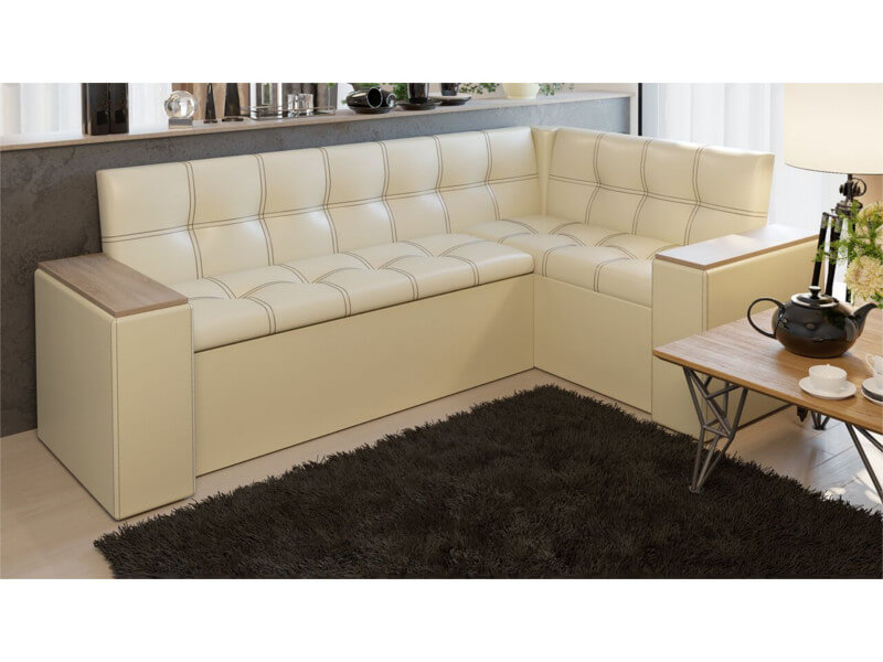 фото Кухонный диван со спальным местом Остин Светлый