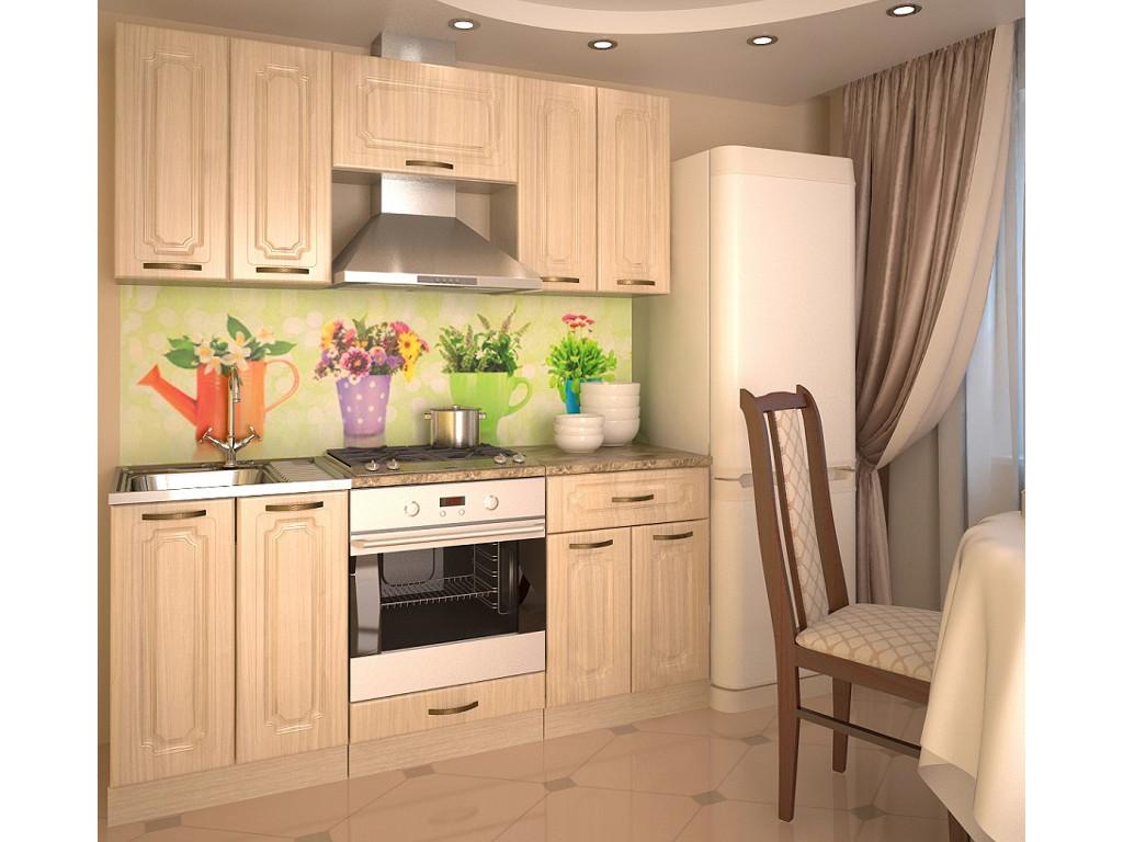 фото Кухонный гарнитур Грецкий орех 1800
