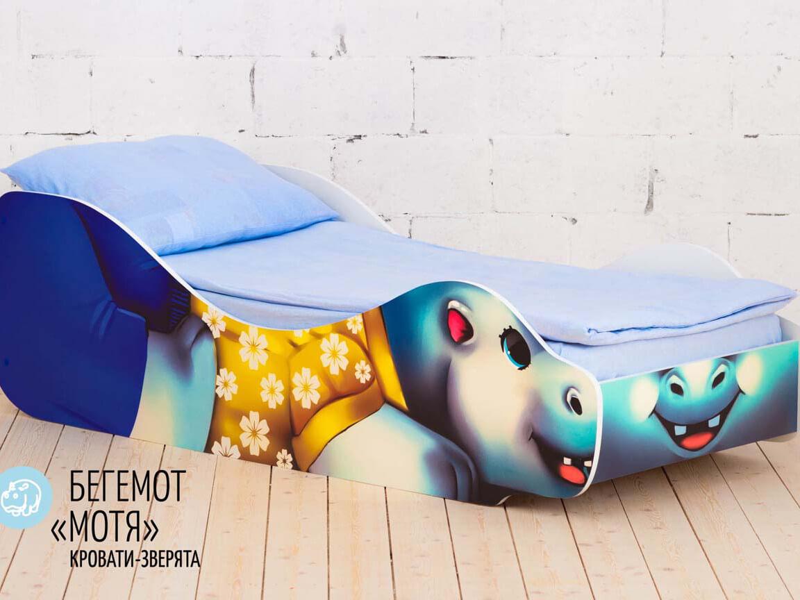 фото Детская кровать Бегемот - Мотя