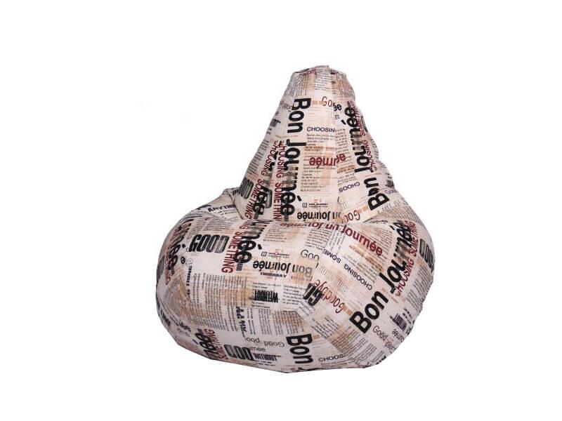 фото Кресло-мешок Газета
