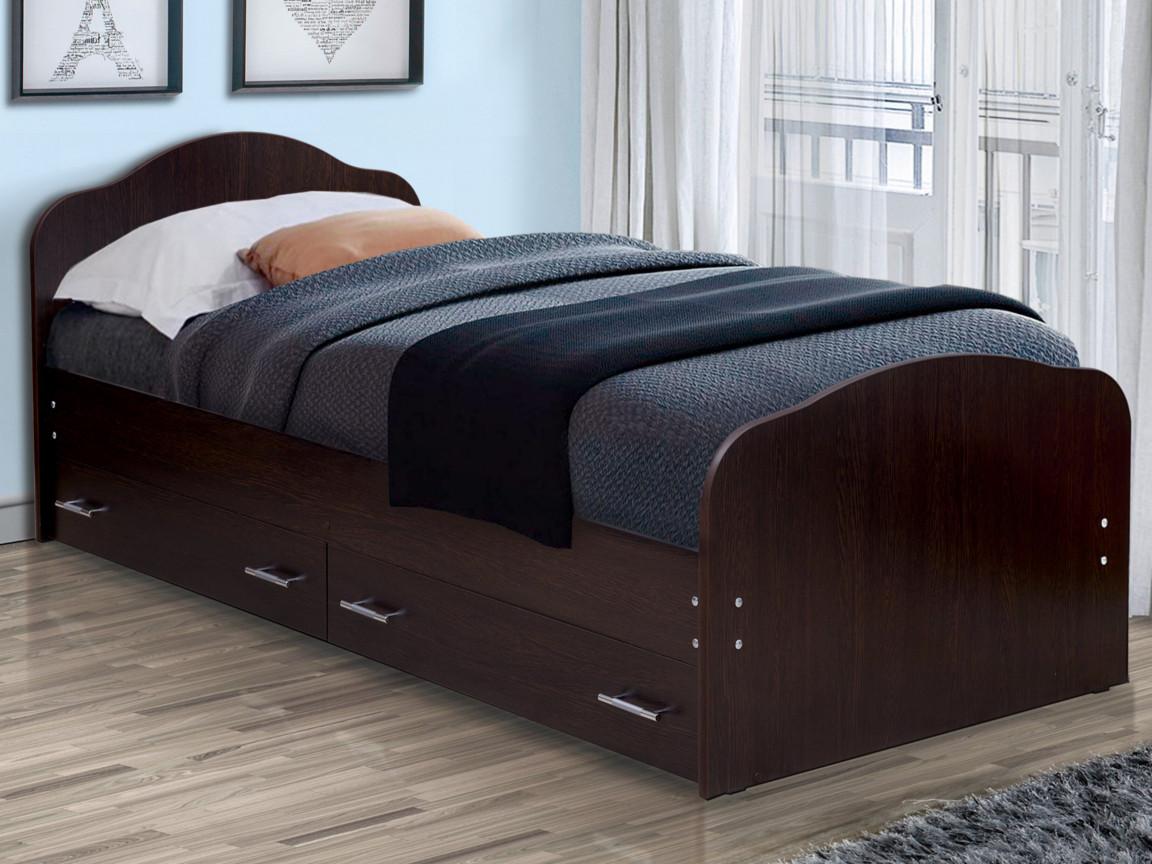 фото Кровать одинарная на уголках No 1 с ящиками Матрица