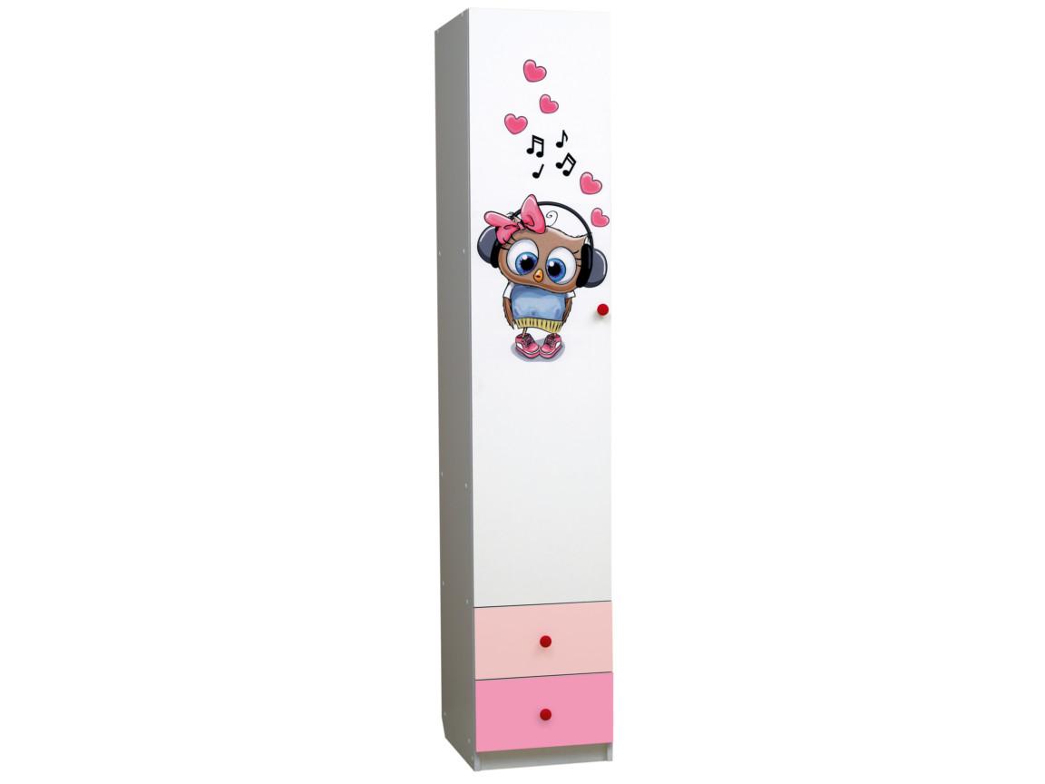 фото Шкаф 1-но дверный с ящиками Совята 1-2