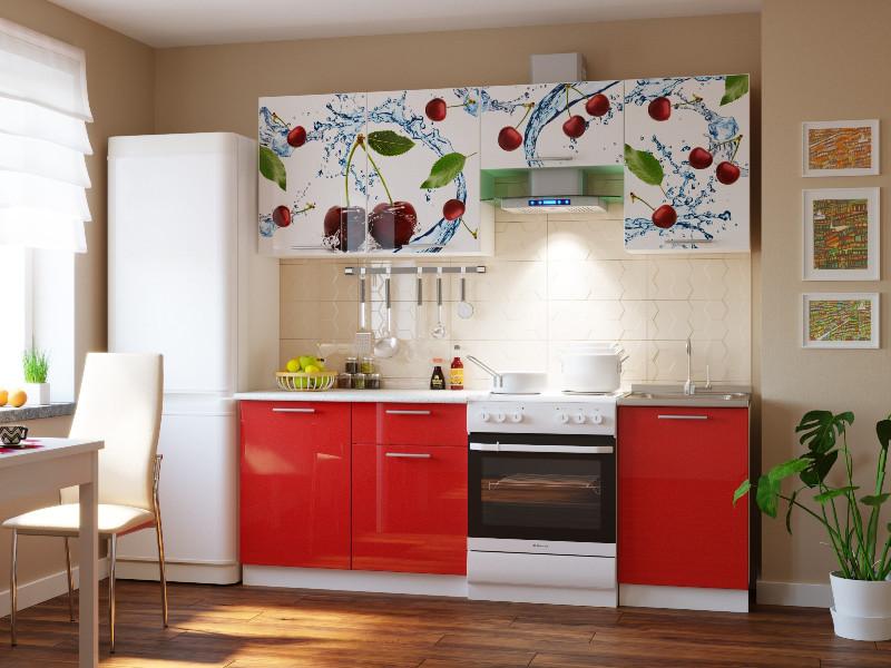 фото Кухонный гарнитур Риал 2К-107-красный 2100