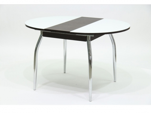 Стол круглый раздвижной со стеклом Гала 3