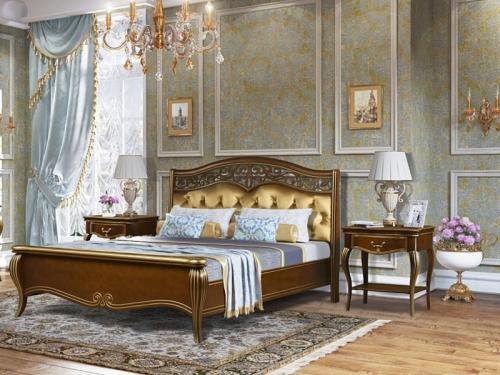 Спальня Патриция орех с золотом