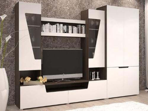 Гостиная Анталия 2 венге-белый софт