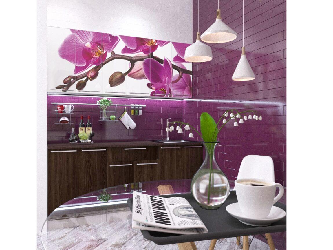 фото Кухонный гарнитур Орхидея 1800