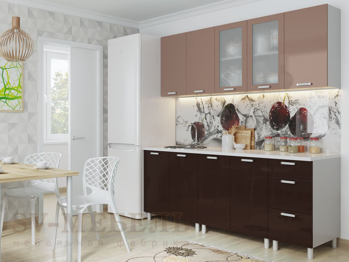 фото Кухня Модерн Горький Шоколад