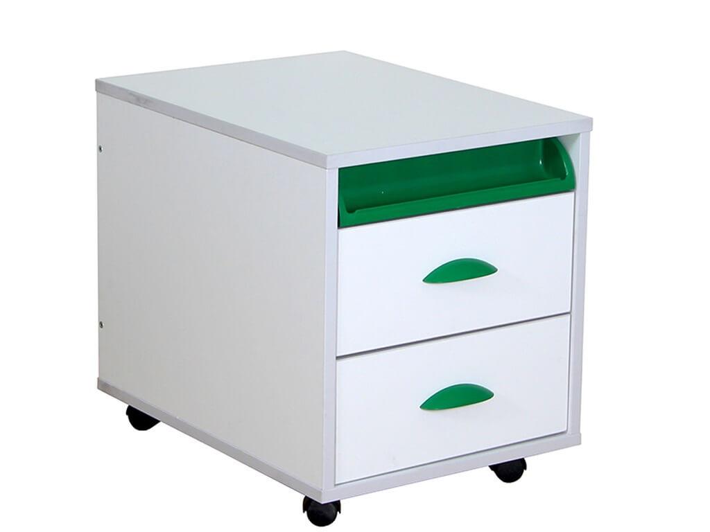 фото Тумба ТУВ 01-01 белый зеленый