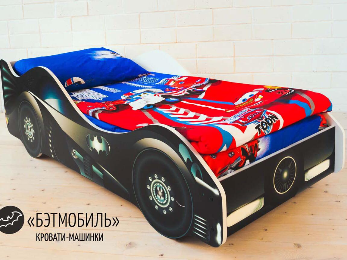 фото Кровать-машина Бэтмобиль