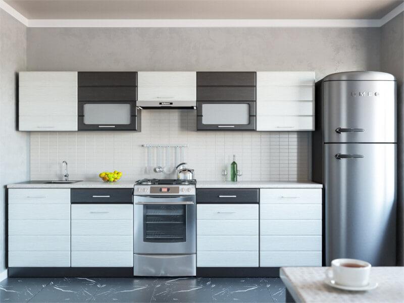 фото Кухня Венеция дым-венге 2400
