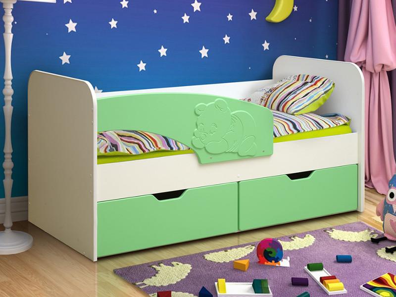 фото Кровать детская Винни-Пух МДФ матовый