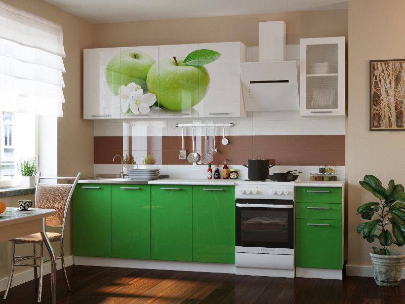 фото Кухонный гарнитур Риал К-81-зеленый 2000