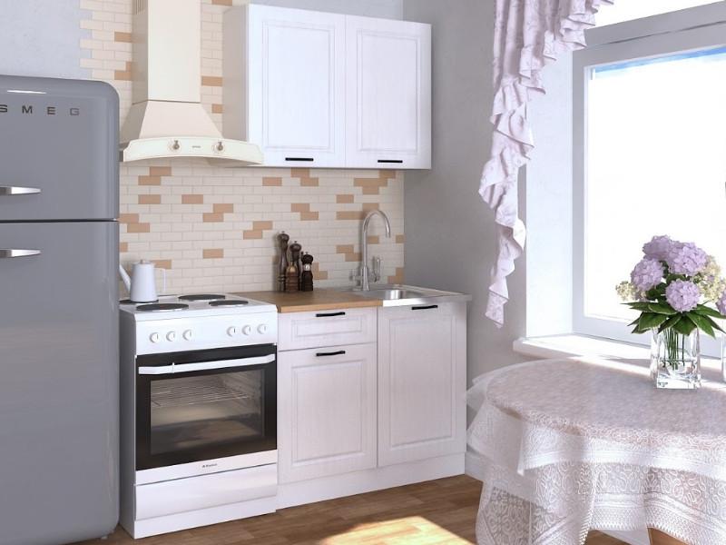 фото Кухонный гарнитур Белый вегас 1000