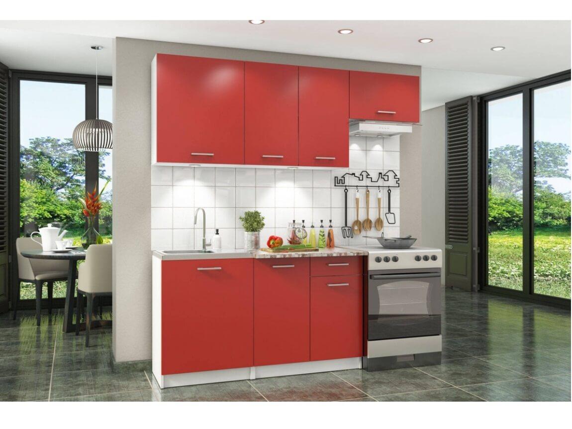фото Кухонный гарнитур Бланка красный