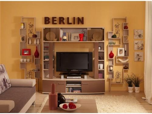 Гостиная Берлин Шоколад глянец