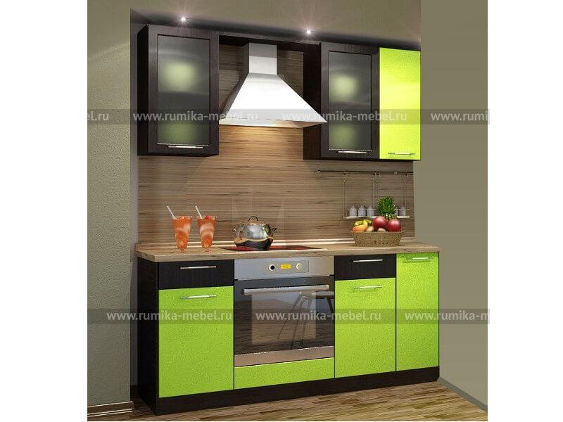 фото Кухня Фантазия олива металлик-венге
