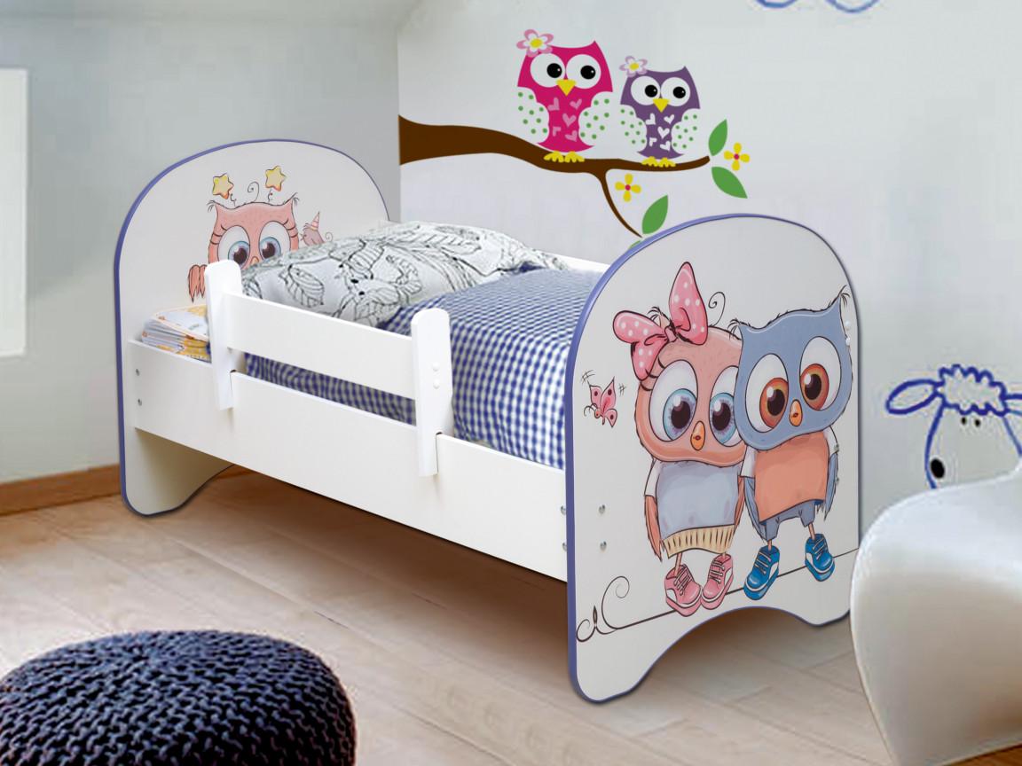 фото Кровать детская с фотопечатью без ящика Совята