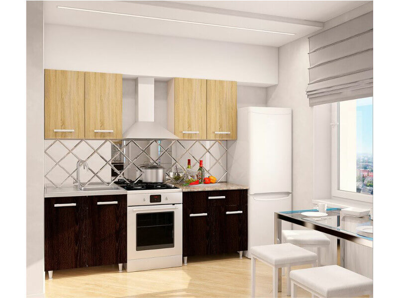 фото Кухонный гарнитур Эко Дуб Сонома-Кентерберри