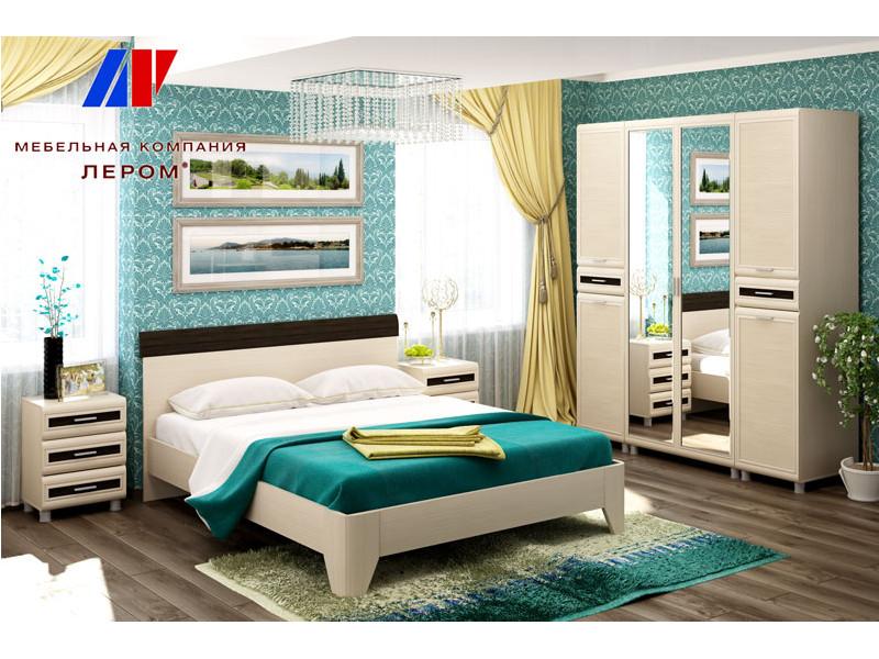 фото Спальня Мелисса Дуб Беленый комбинированный