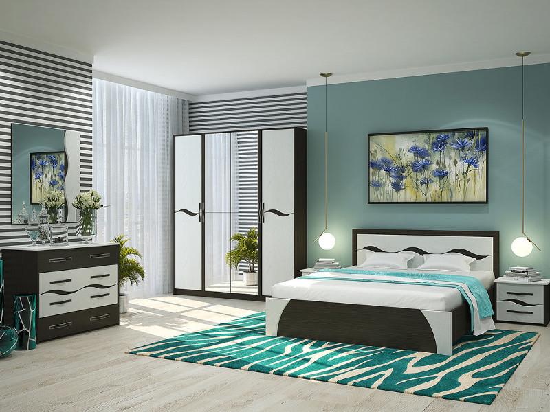 фото Спальня Валенсия с четырехстворчатым шкафом