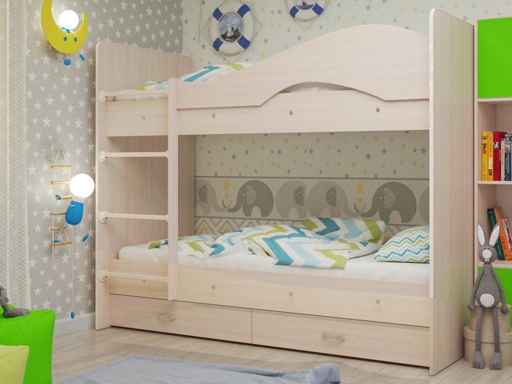 фото Кровать двухъярусная Мая с ящиками