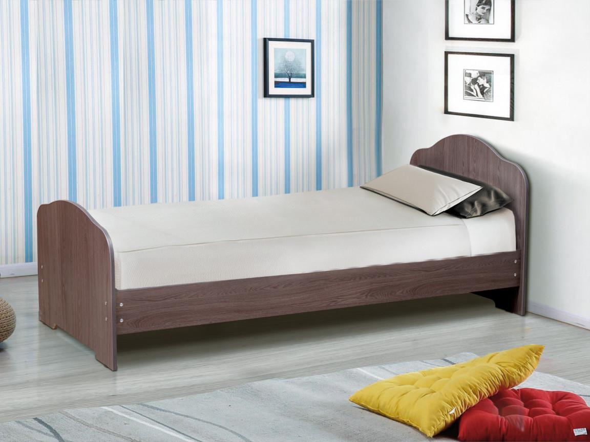 фото Кровать одинарная на уголках No 1 Матрица