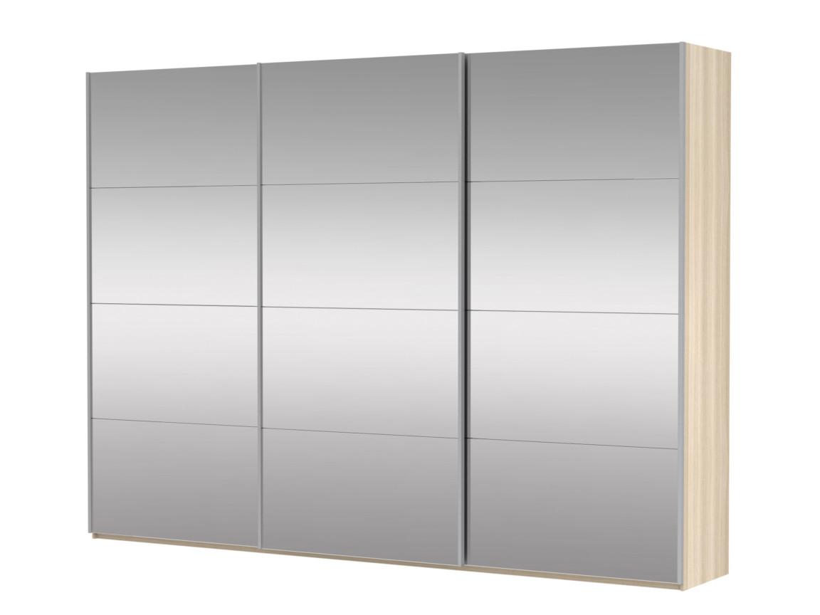 фото Шкаф-купе 3-х дверный Прайм 3 двери зеркало сонома