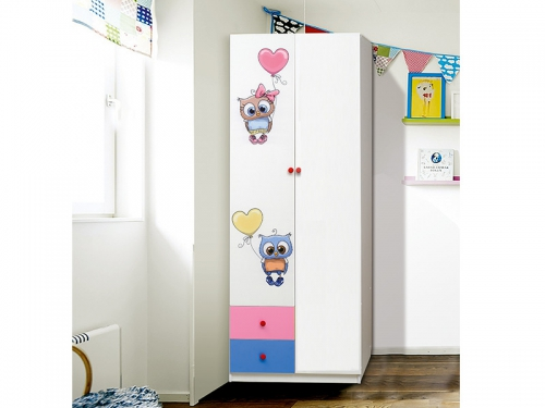 Шкаф 2-х дверный с ящиками Совята 2-2