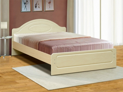 Кровать двойная Венеция 1 матовая