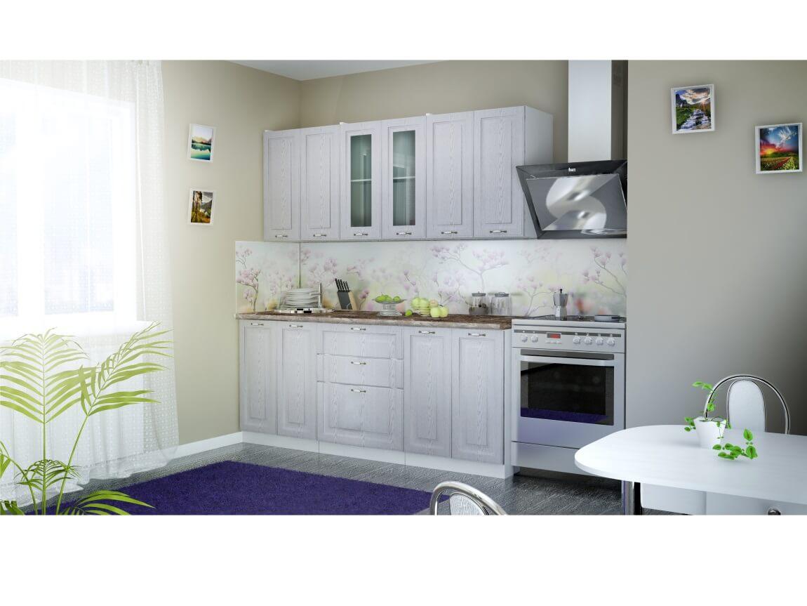 фото Кухня Патина серебро