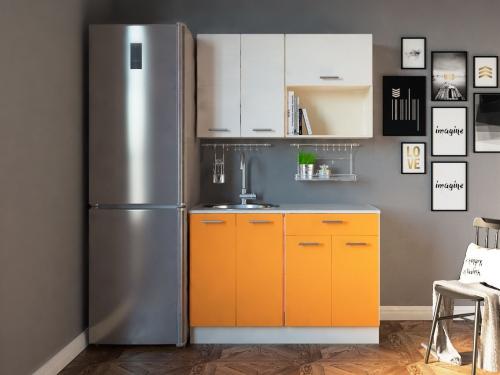 Кухня Комфорт Оранжевый-Бежевый