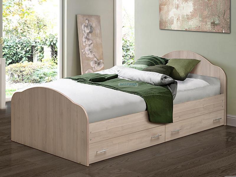 фото Кровать двойная на уголках No 1 с ящиками Матрица