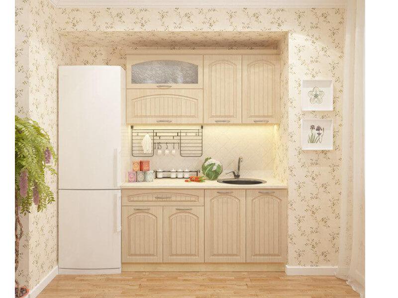 фото Кухня Перламутр 1600