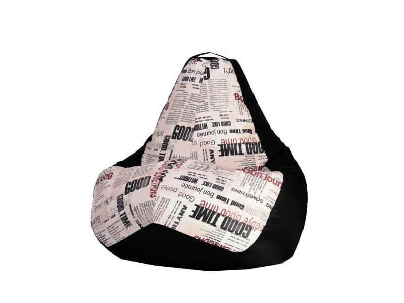фото Кресло-мешок Газета-Black