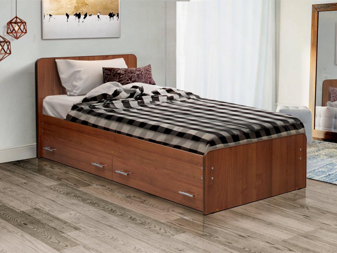 фото Кровать одинарная на уголках No 5 с ящиками Матрица