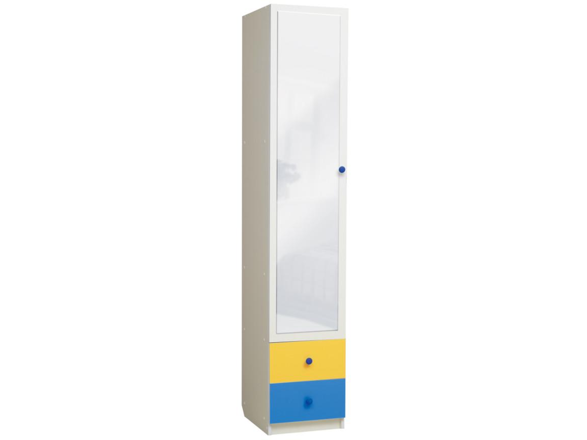 фото Шкаф 1-но дверный с ящиками и зеркалом Радуга