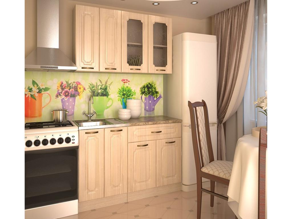 фото Кухонный гарнитур Грецкий орех 1400
