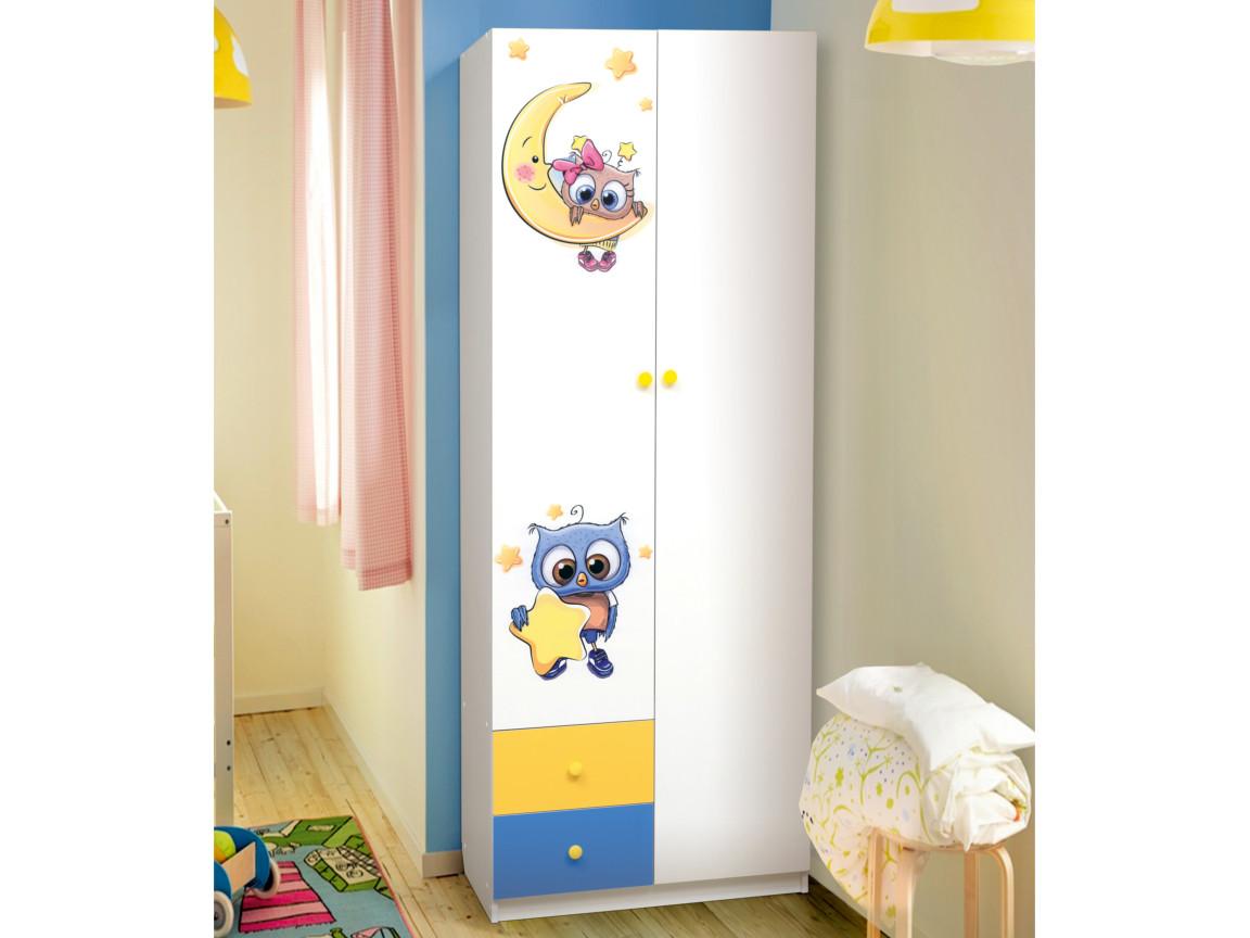 фото Шкаф 2-х дверный с ящиками Совята 2-1