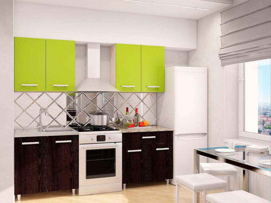 фото Модульная кухня Эконом Лайм-Дуб Кентерберри темный