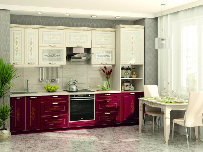 фото Модульная кухня Виктория с кристаллами Swarovski