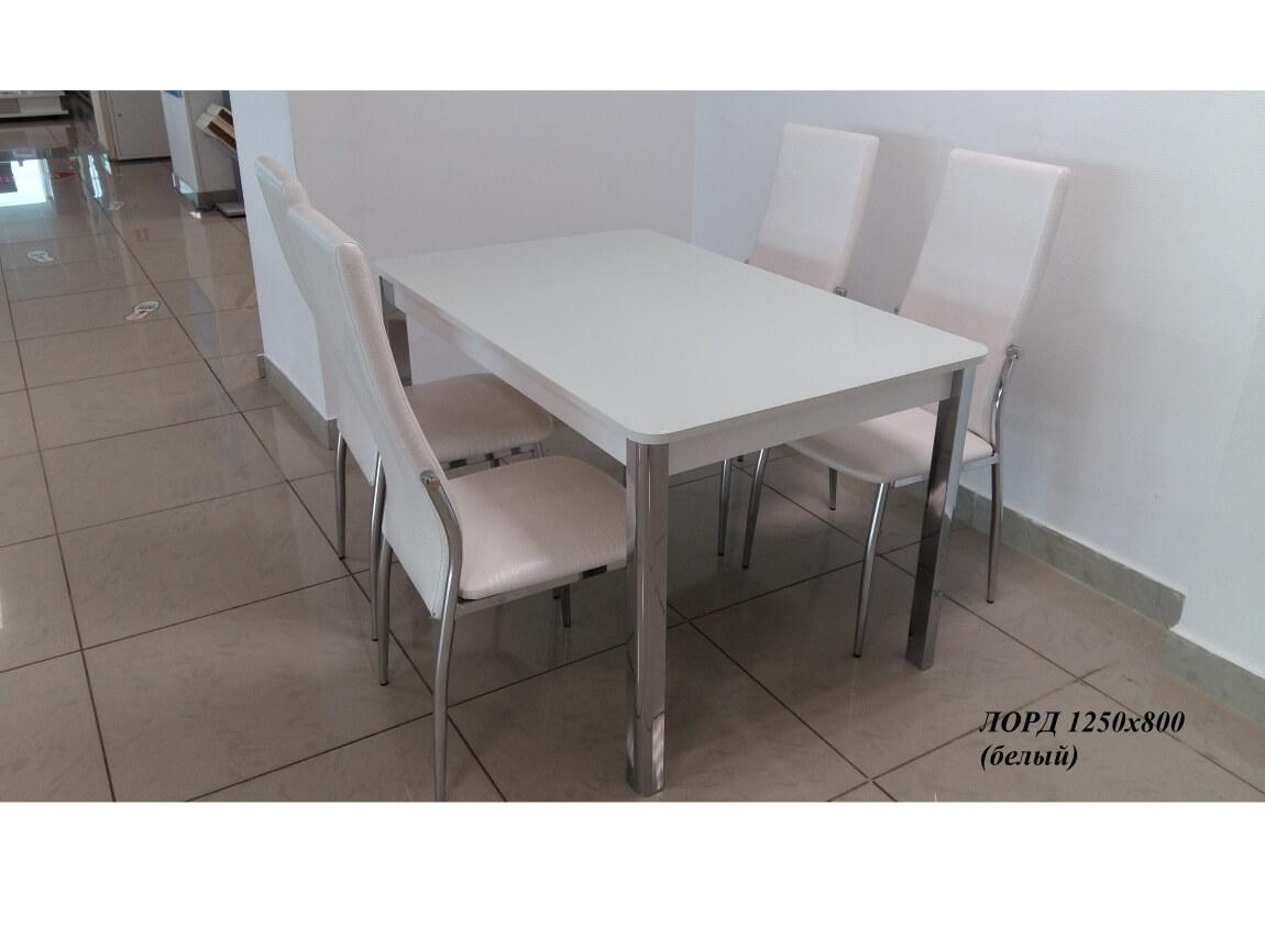 фото Раскладной стол со стеклом Лорд