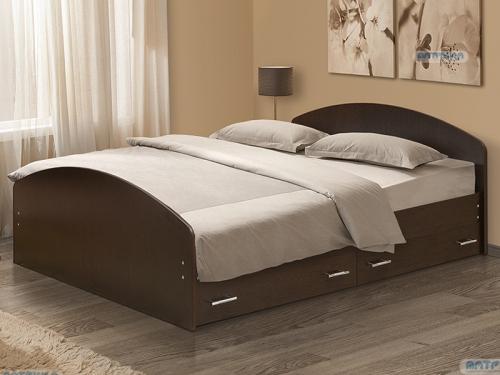 Кровать двойная на уголках No 2 с ящиками Матрица