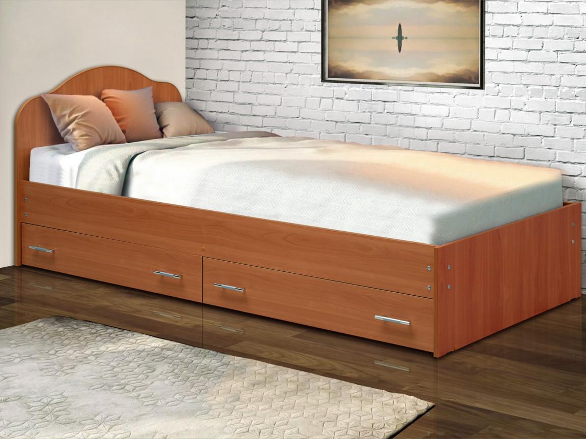 фото Кровать одинарная на уголках No 3 с ящиками Матрица